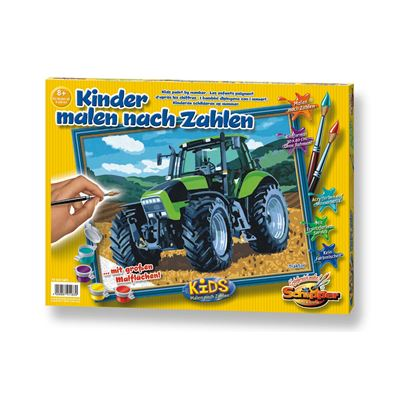 Schipper Arts Crafts Malen Nach Zahlen Kids Traktor