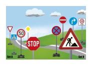 Sicherheit im Straßenverkehr trainieren mit Verkehrsschilder-Sets von Jamara