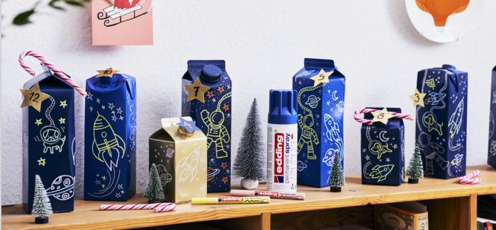 edding bietet DIY-Adventskalender-Ideen für Endverbraucher an