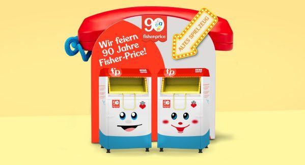 Kaputtes Fisher Price Spielzeug zum 90.